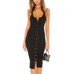 Superdown Shelby Midi Dress in Black